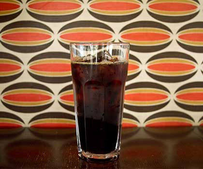 Ladro's Cold Brew Coffee Recipe makes a rich cold brew great over ice in a tall glass